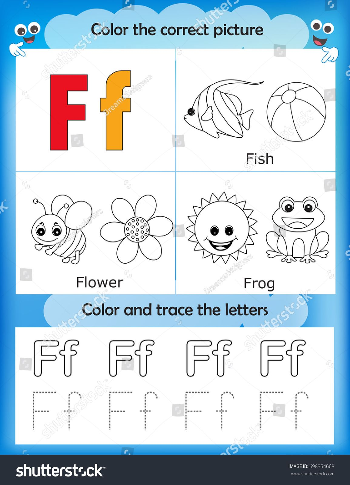Alphabet Learning Letters Amp Coloring Graphics Printable