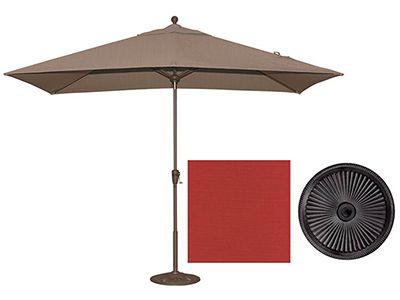 Crimson Red Rectangular Patio Umbrella #steinhafels
