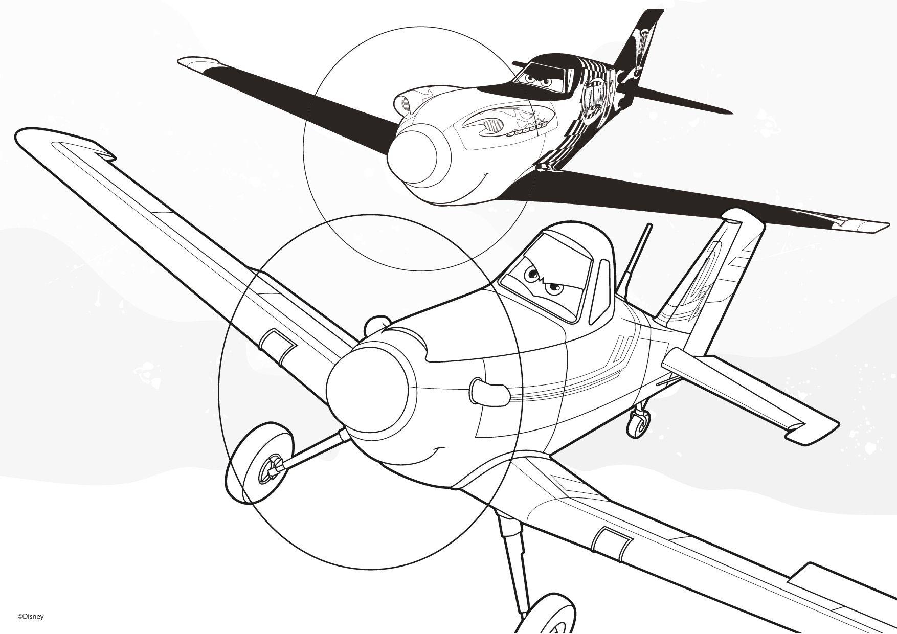 Planes Malvorlage