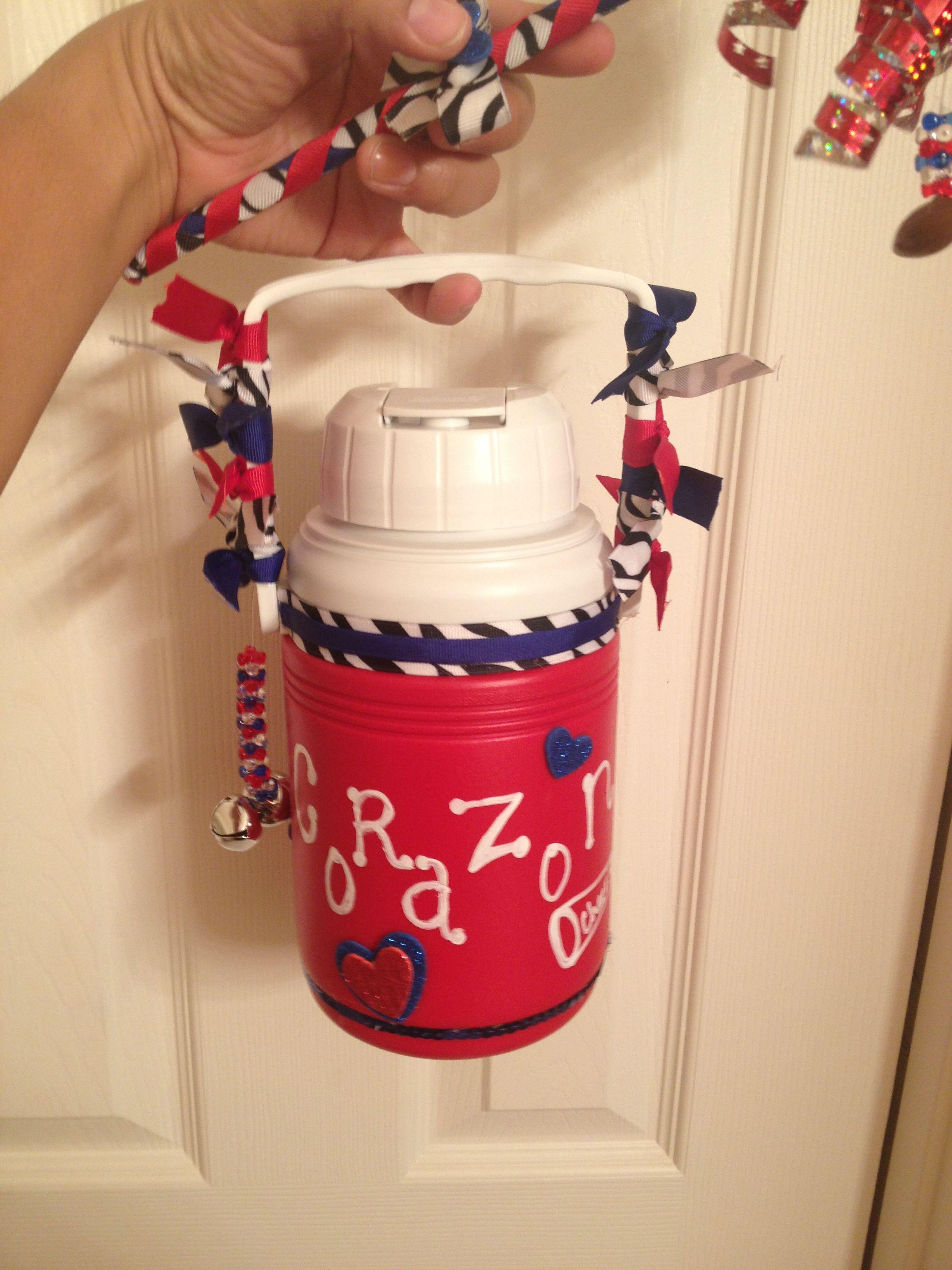 Giants water jug front cheer gifts cheer item cheer
