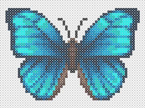 Plantilla De Cuentas – Mariposa Azul