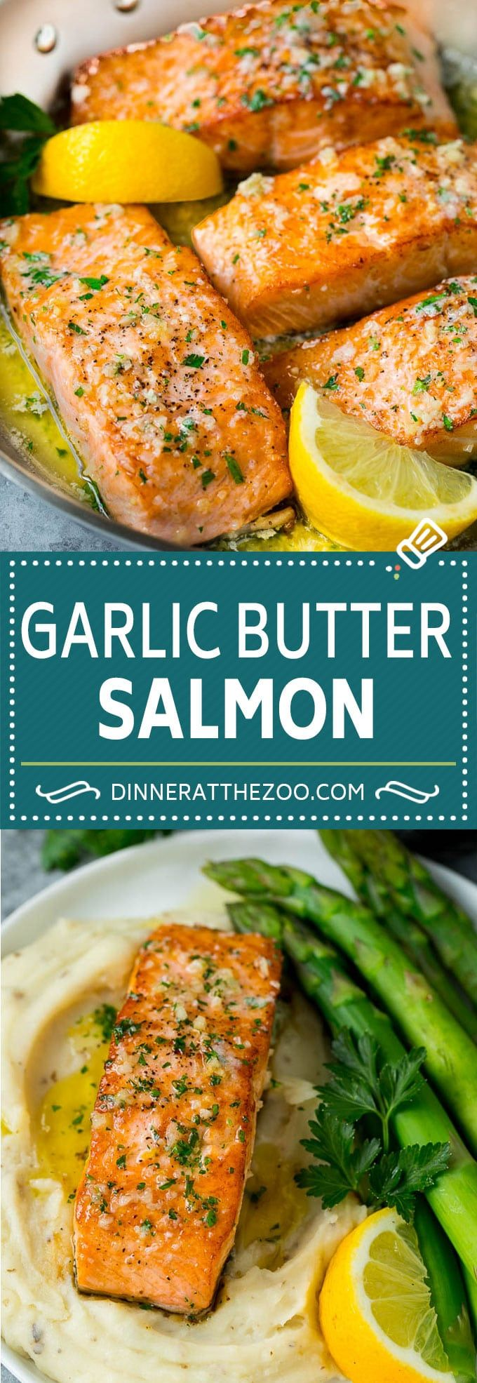 Pan Seared Salmon with Garlic Butter - Dinner at the Zoo