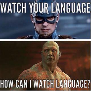 Cap And Drax Marvel Funny Marvel Quotes Marvel Jokes