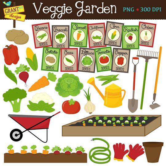 Vegetable Garden With Images Garden Clipart Veggie Garden