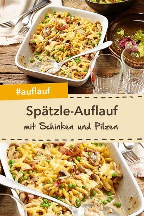 Photo of Spaetzle casserole with ham and mushrooms