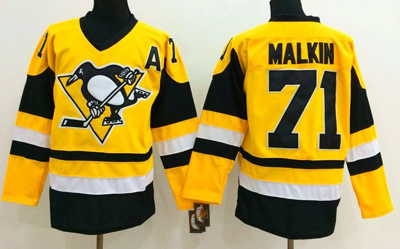 new concept 988b4 8e200 Pittsburgh Penguins Jersey - #71 Evgeni Malkin Yellow New ...