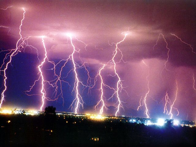lightning storm - spectacular