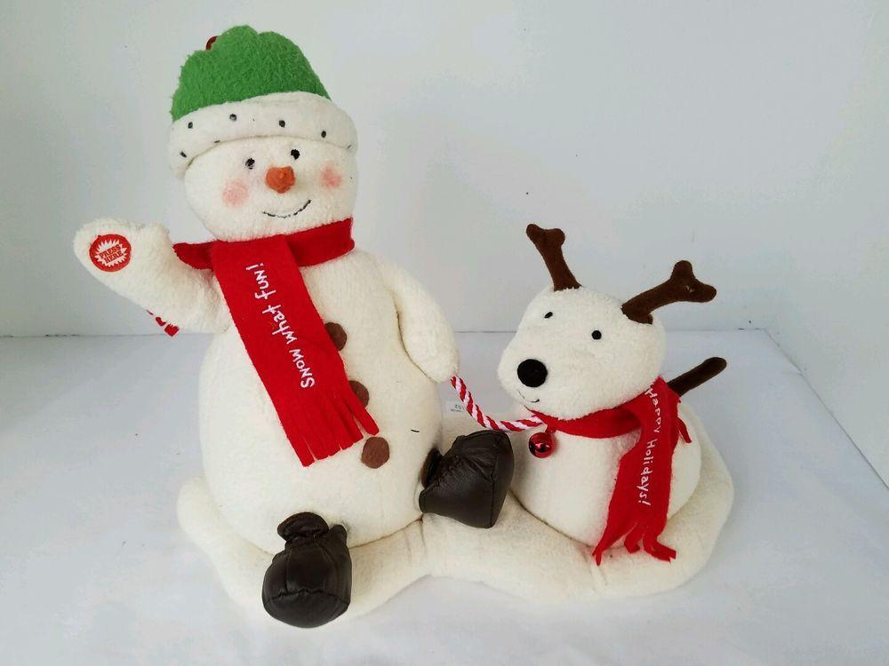 Hallmark Animated Jingle Pals Singing Snowman and Dog Retired