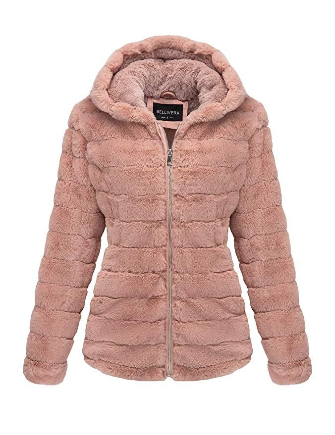 Bellivera Women's Faux Fur Jacket for Winter
