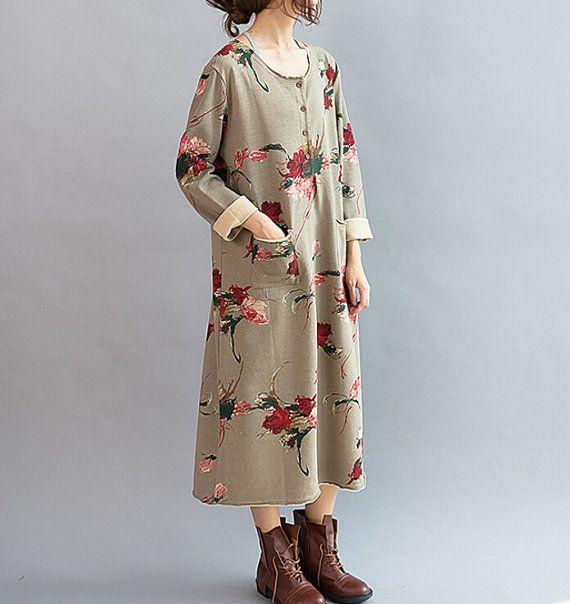 Bloom / sciolti lungo manica lunga vestito / grandi di MaLieb