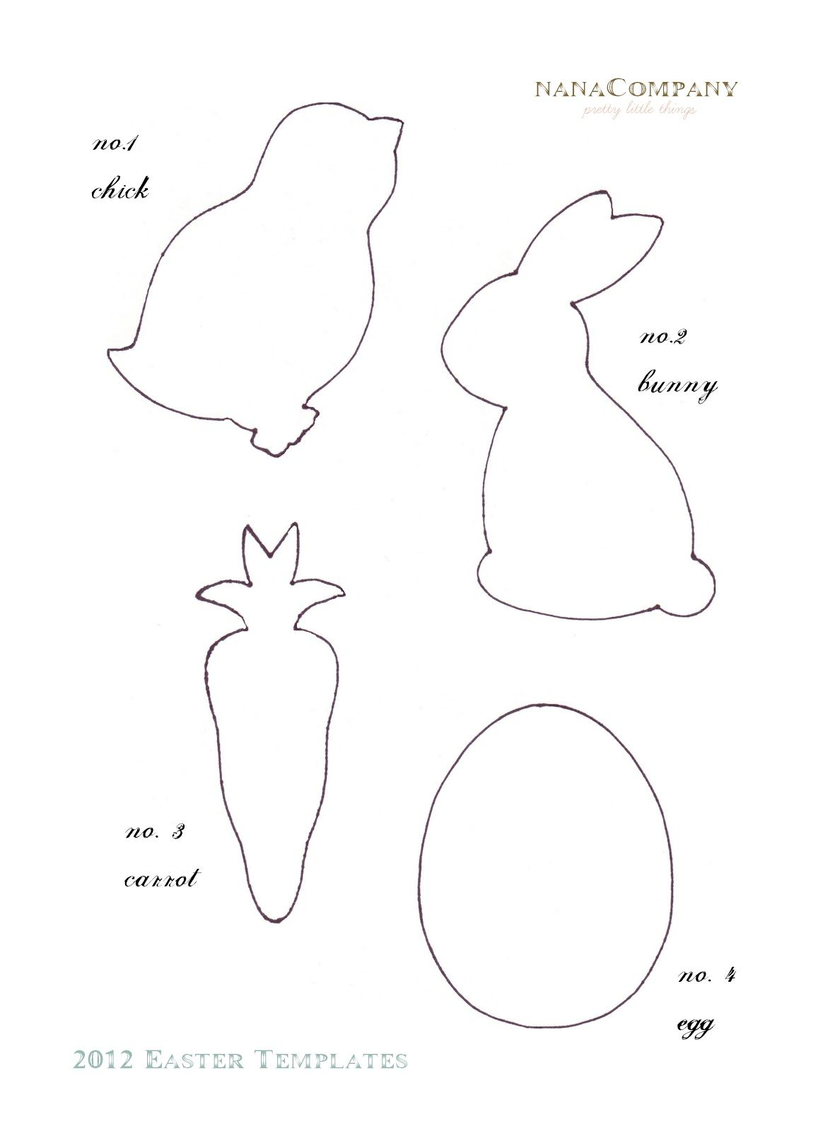 felt easter patterns free | Free+Printable+Easter+Template+for+ ...