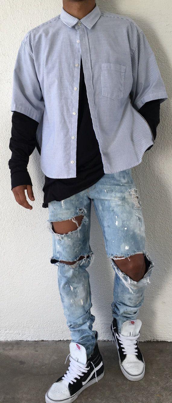 Japanese Selvege Denim Romper Jeans Fear Of God Yeezy Rick Owens Vintage Indigo Premium Denim Jeans Premium Denim