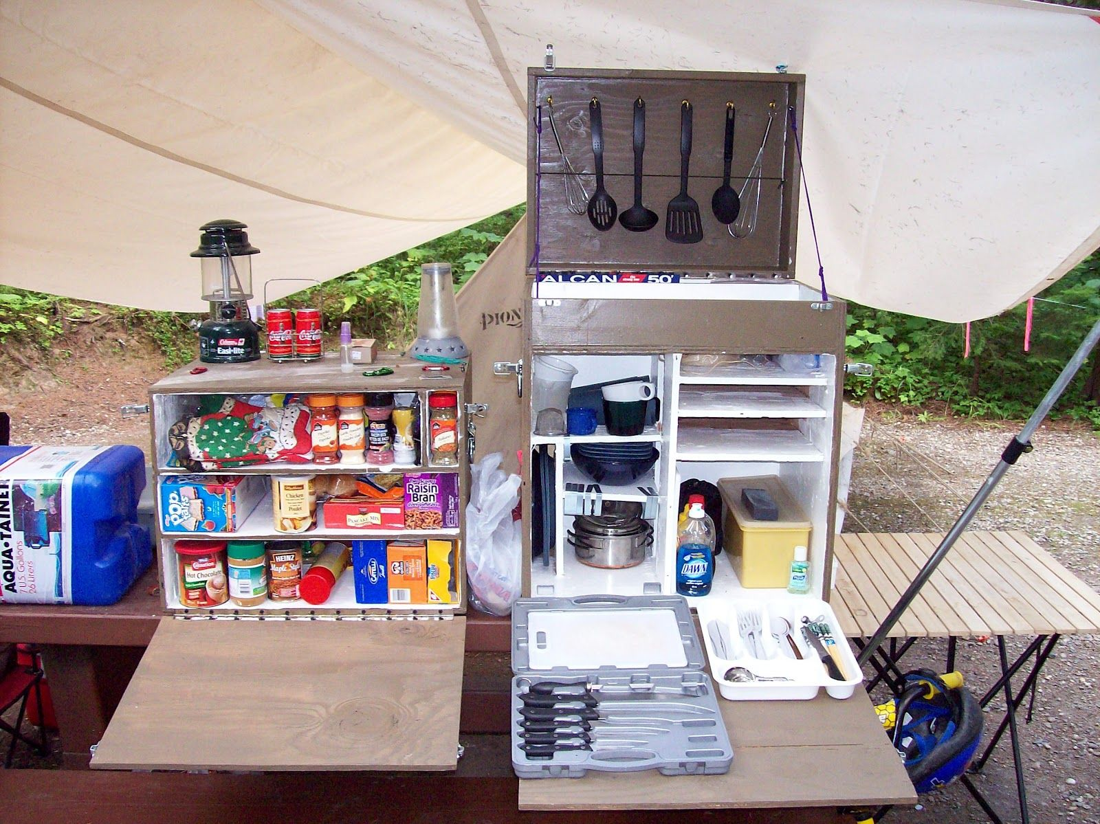 Camp box chuck box on pinterest chuck box camping Camp designs