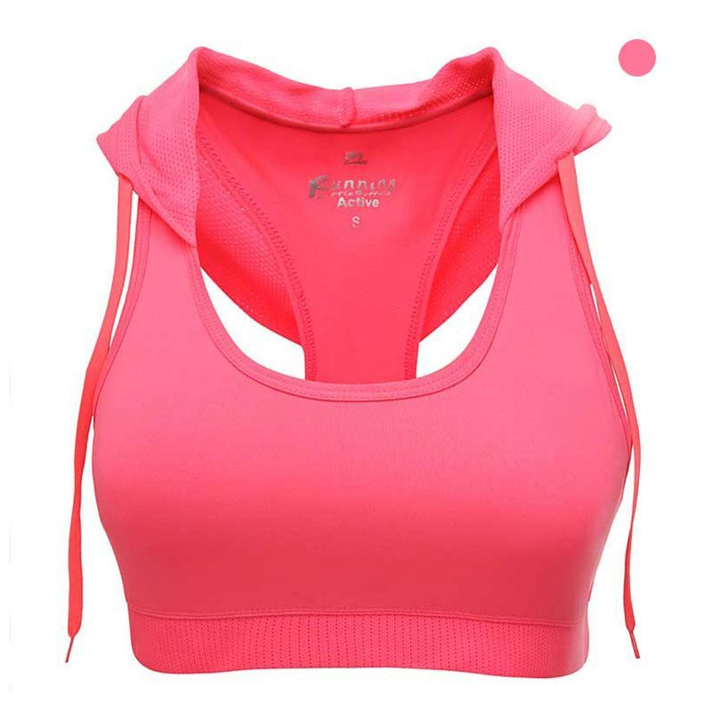 Women Bodybuilding Crop Tops Hoodie  Fitness and Workout Bra Polyester /& Spandex