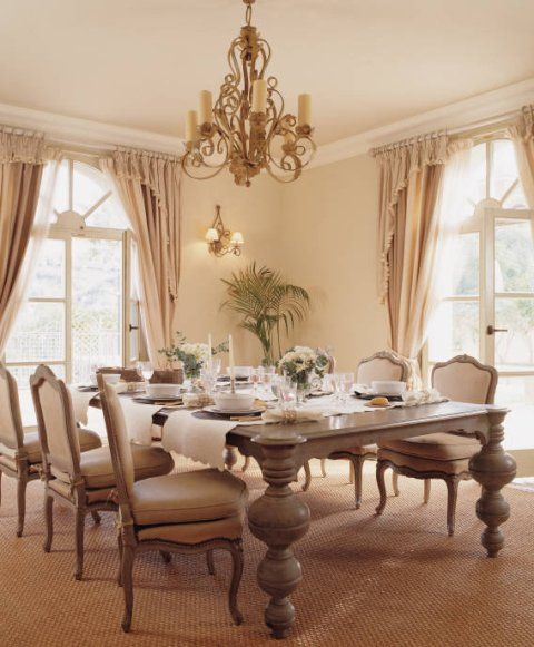 French Dining Room Table: Country French Dining Room