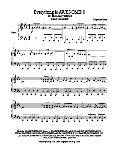 Waiting For Awesome Ft The Lonely Island Tegan And Sara Free Piano Sheet Music Sheet Music Piano Sheet Music Piano Sheet Music Free