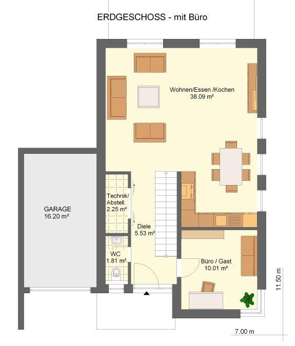 Kowalski Haus Medina 123 Grundriss Erdgeschoss Mit Büro