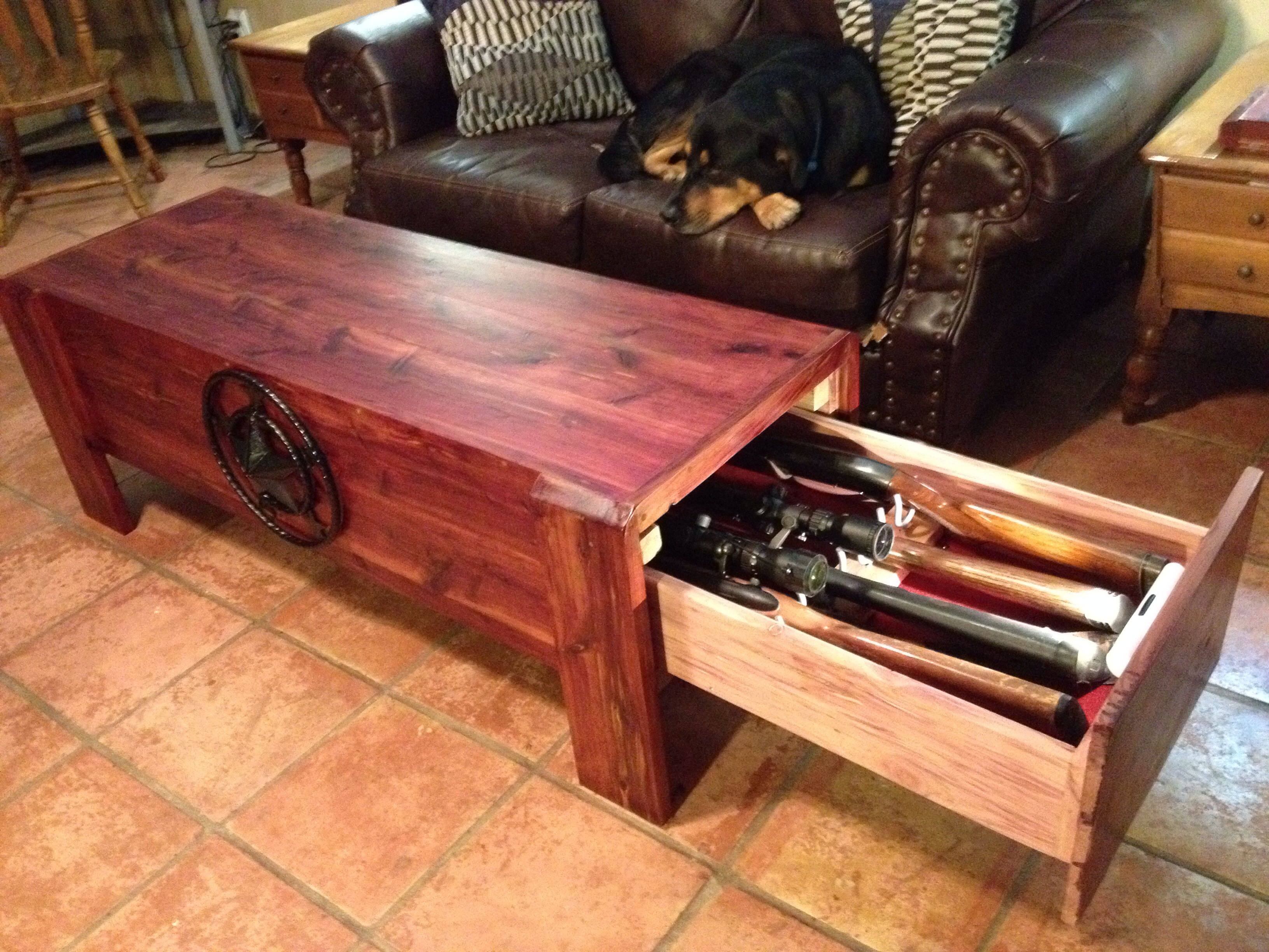 Sofa Gun Safe Bed Bedroom Ideas My 100 Cedar Concealed Coffee Table Ronbond Cmaaccess