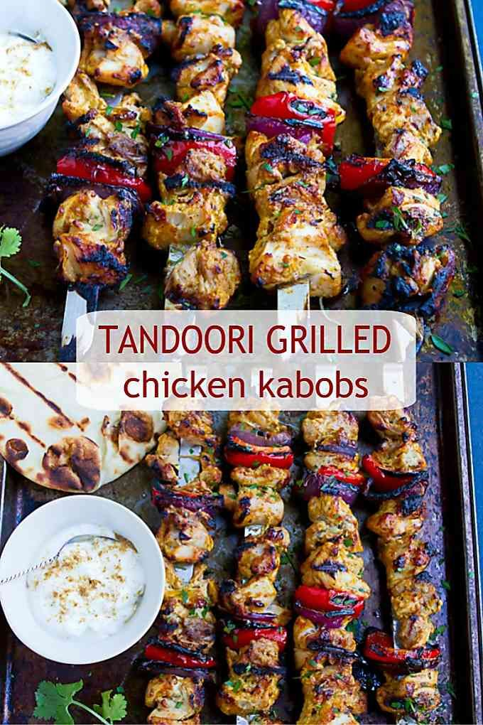 Tandoori Grilled Chicken Kabobs - Cookin Canuck - Healthy Grilling Recipe