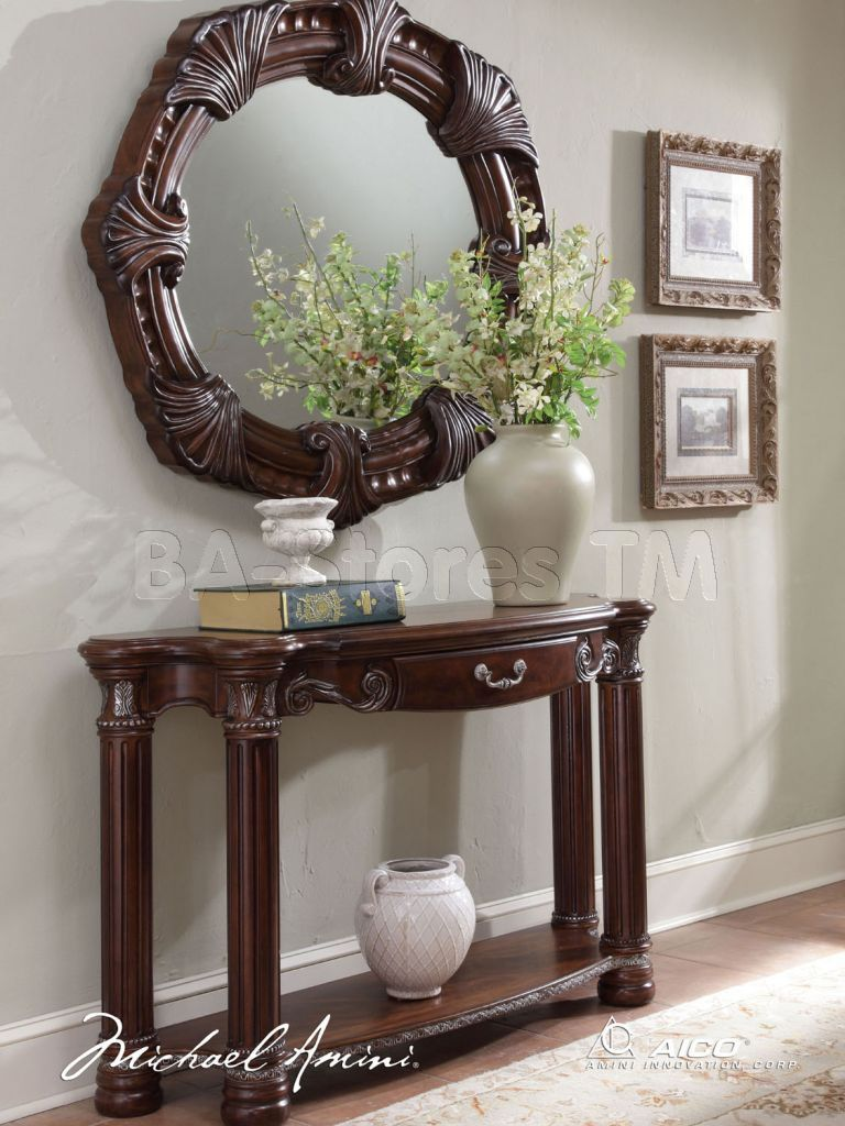 Miraculous Monte Carlo Ii Console Table With Mirror Cafe Noir By Cjindustries Chair Design For Home Cjindustriesco