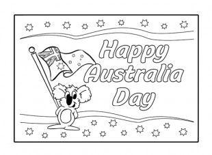free printable australia day colouring google search