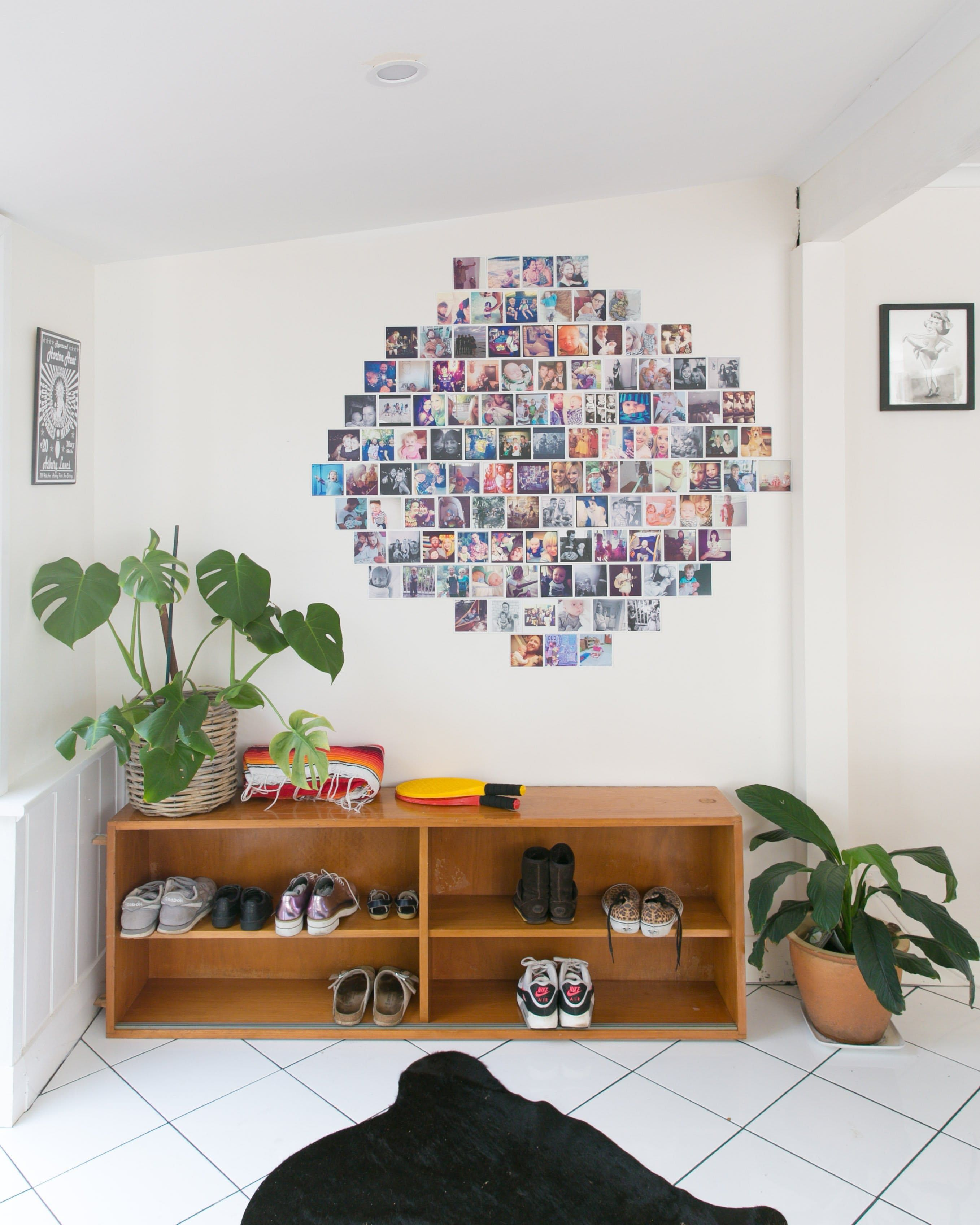 Budget decorating at its best diy photo collage ideas