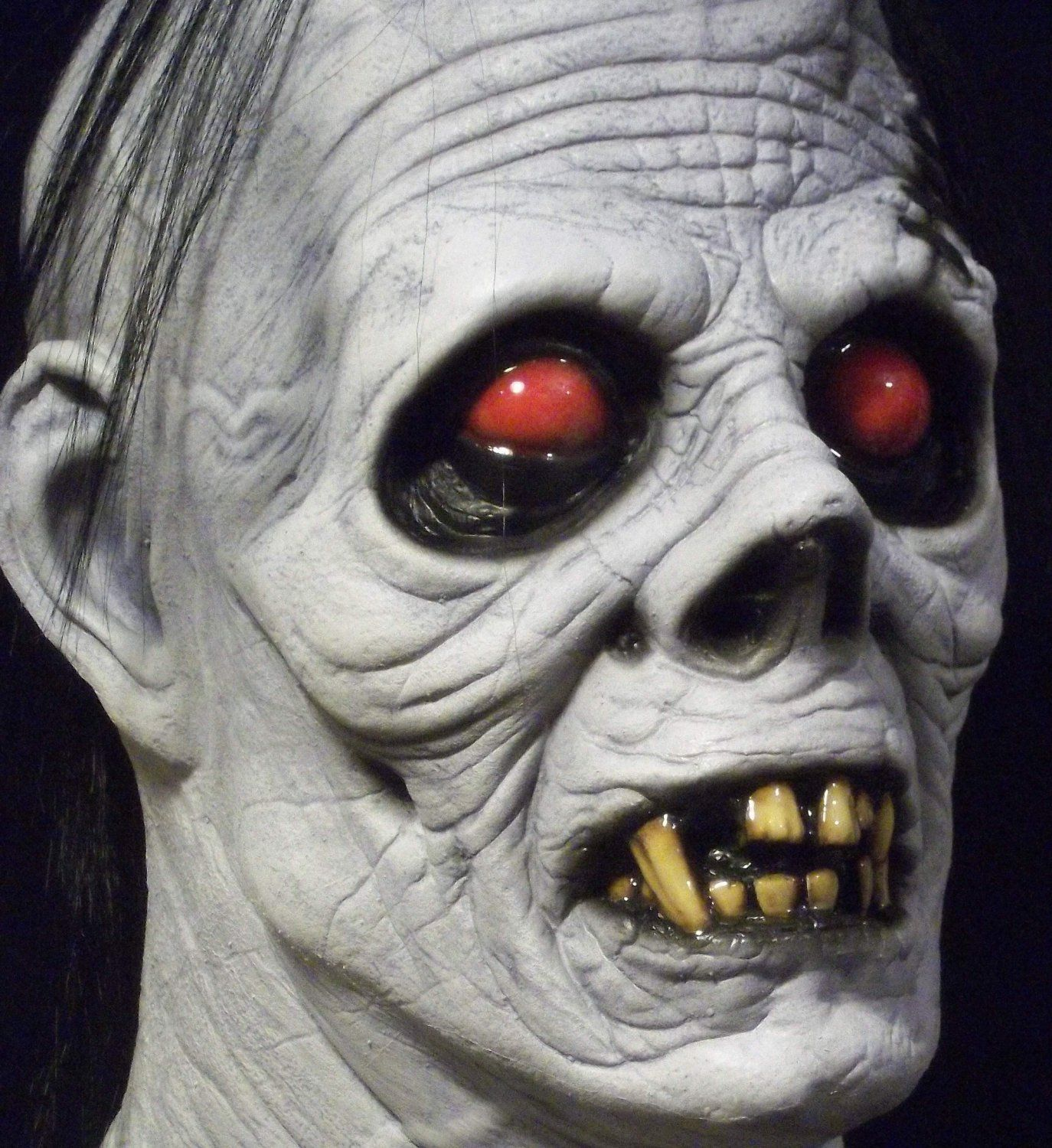 Albino #Ghoul White #Zombie #Undead Walking Dead #Halloween #Mask ...