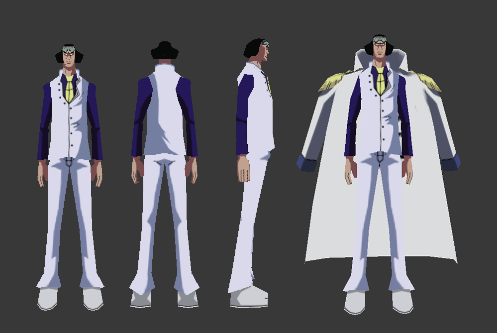 Admiral Aokiji Low Poly 3D Model by TheEbonyStallion
