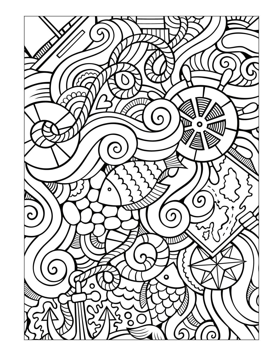 Ocean coloring book for seniors men Ocean coloring pages