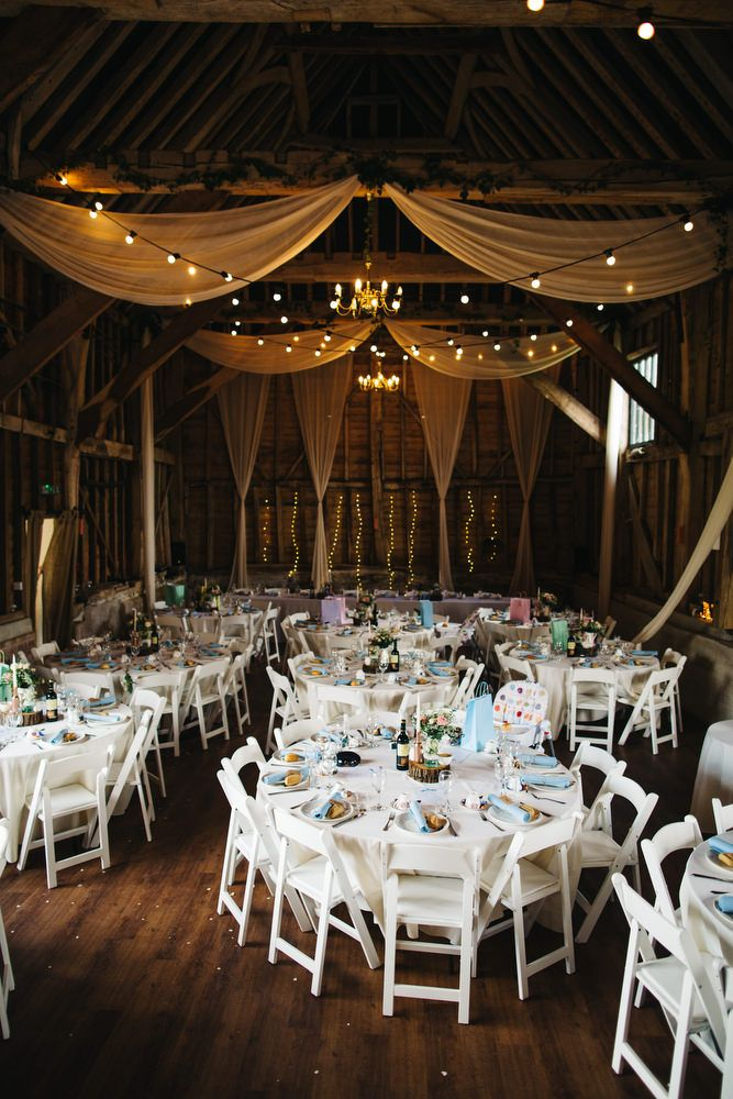 DIY Rustic Wedding at The Great Barn in Kent with Floral Bridesmaid ...