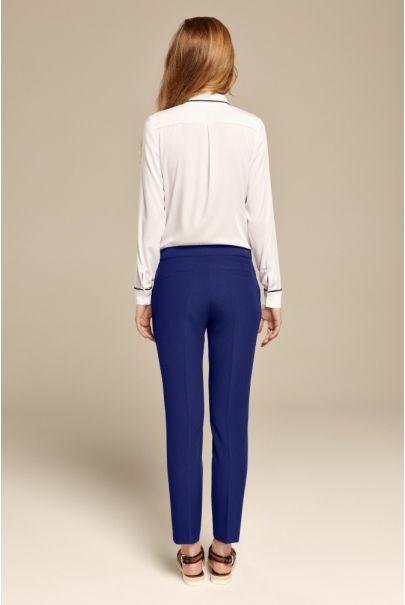 Chabrowe klasyczne spodnie cygaretki