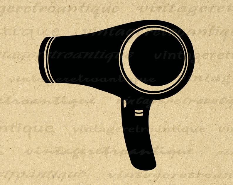 Digital Blow Dryer Graphic Image Blowdrier Download Hair Dresser Salon Barber Printable Antique Clip Art Printable D Clip Art Clip Art Vintage Graphic Image