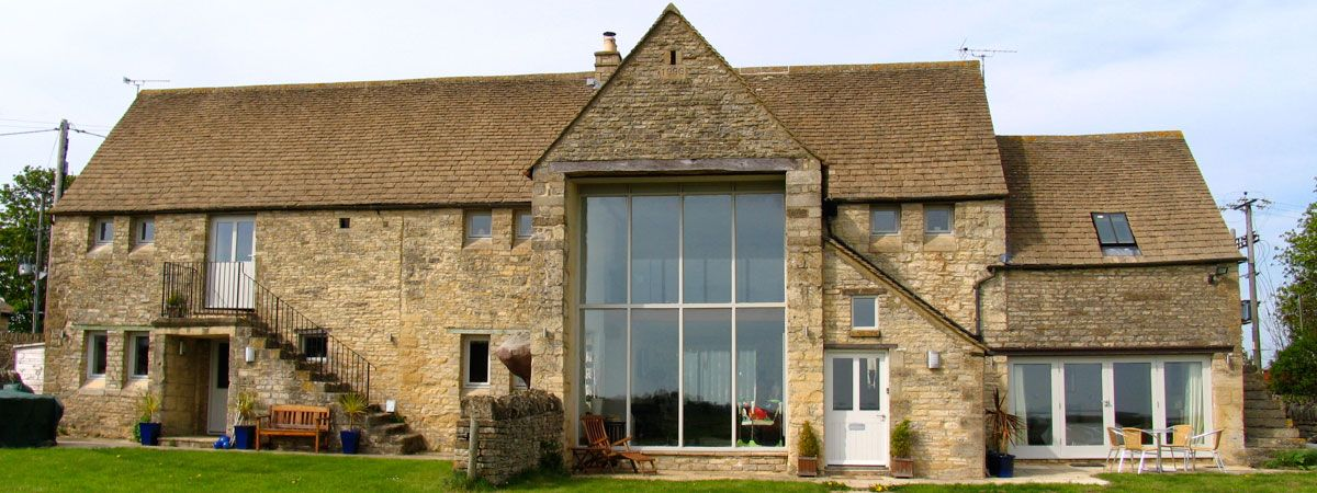 Full Height Glazing In Barn Conversion