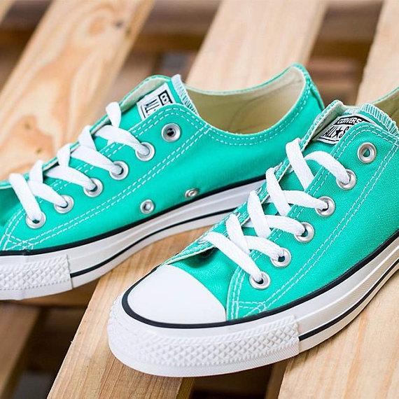 Turquoise converse, Converse low tops