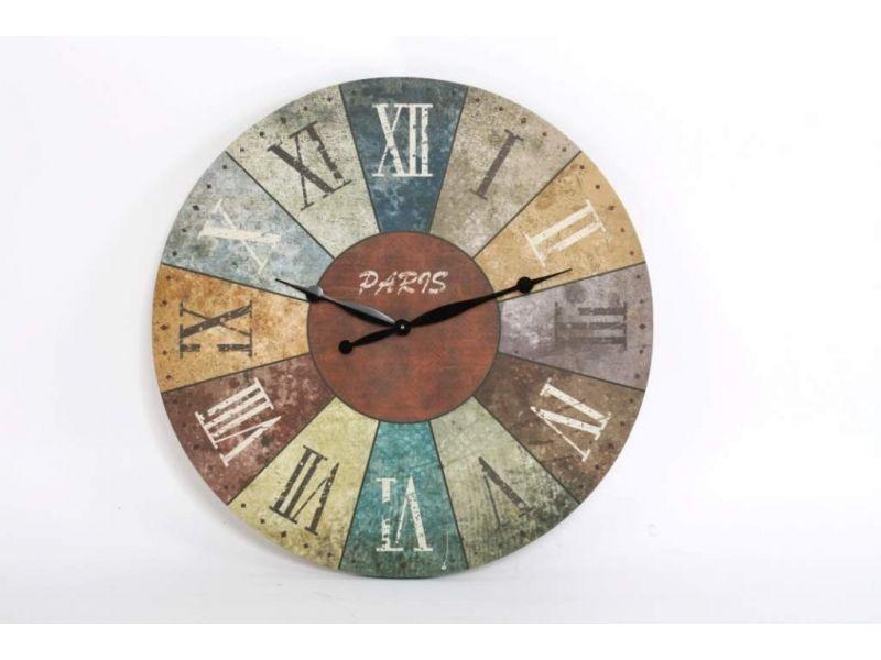 reloj pared madera grande envejecido https://www.catayhome.es ...