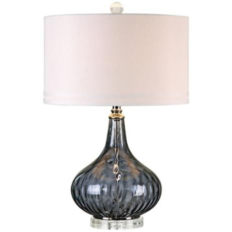 Uttermost Sutera Blackcurrant Water Glass Table Lamp 7w416 Lamps Plus Black Table Lamps Table Lamp Glass Table Lamp