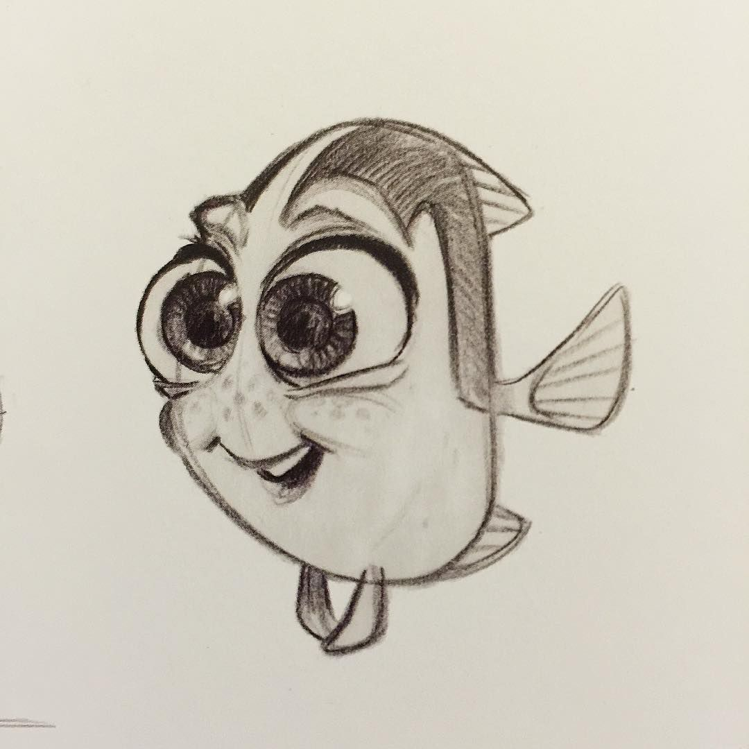 Baby Dory Sketch (unknown artist) | Disney | Pinterest | Zeichnen ...