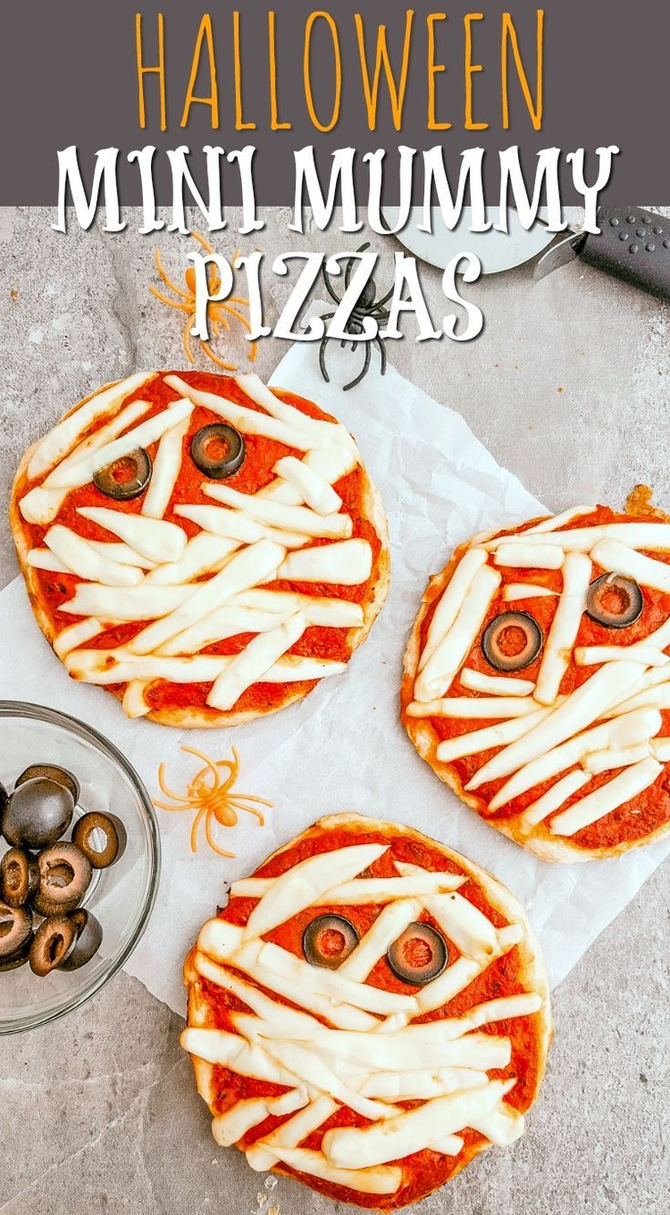 Mini mummy pizzas recipe easy halloween recipes and halloween halloween mini mummy pizzas recipe quick easy halloween dinner idea forumfinder Choice Image