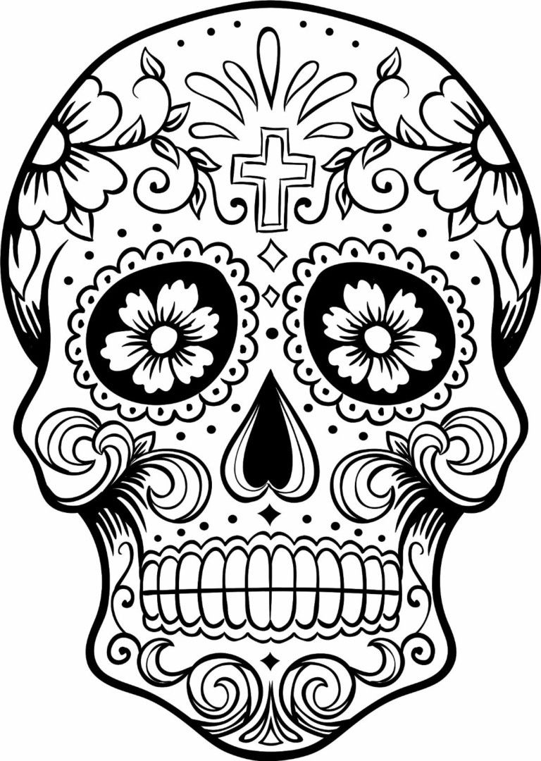 day of the dead skull coloring pages Pin by julia on Colorings | Pinterest | Skull coloring pages  day of the dead skull coloring pages