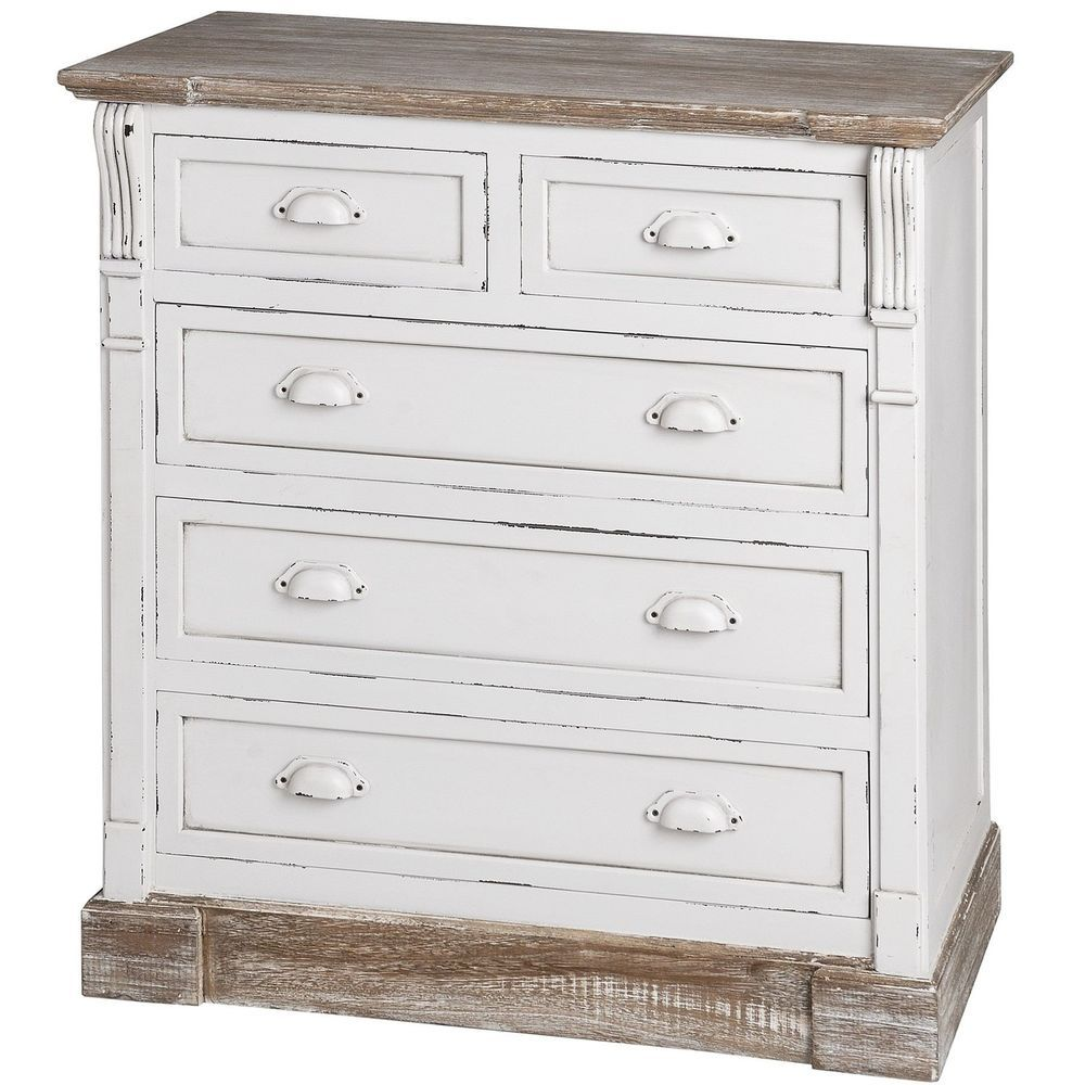 New england chest of drawers shabby chic cream drawer chest