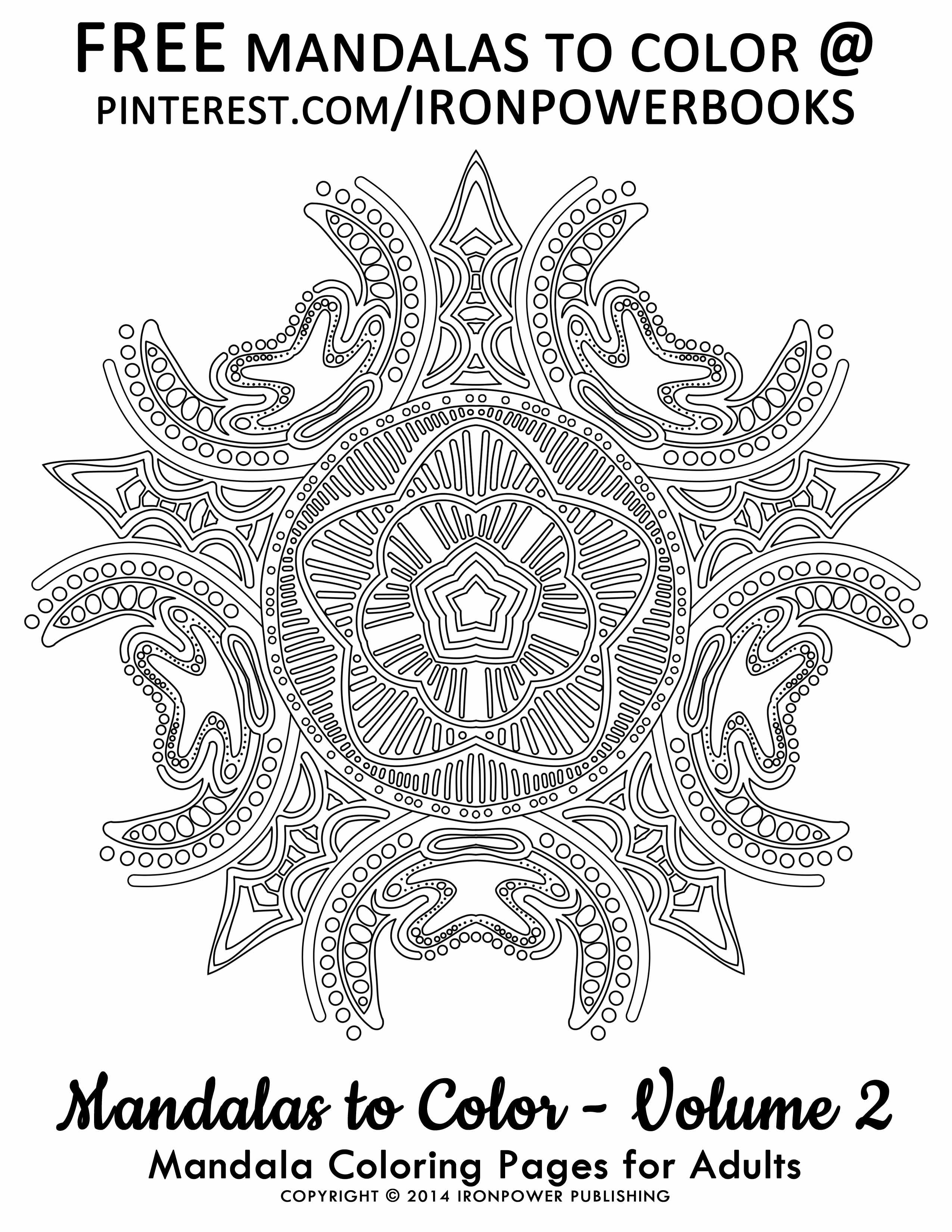 Mandala coloring pages amazon -  Free Coloring Pages For Adults Mandalas To Color Volume 2 Paperback Copy At
