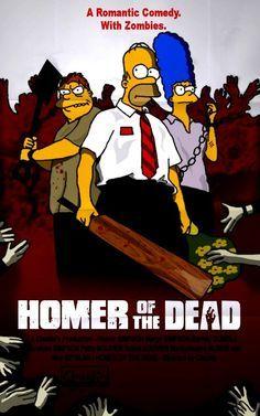 50 posters de series y películas con personajes de Los Simpsons