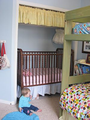 "closet into a ""crib room"". brilliant!"