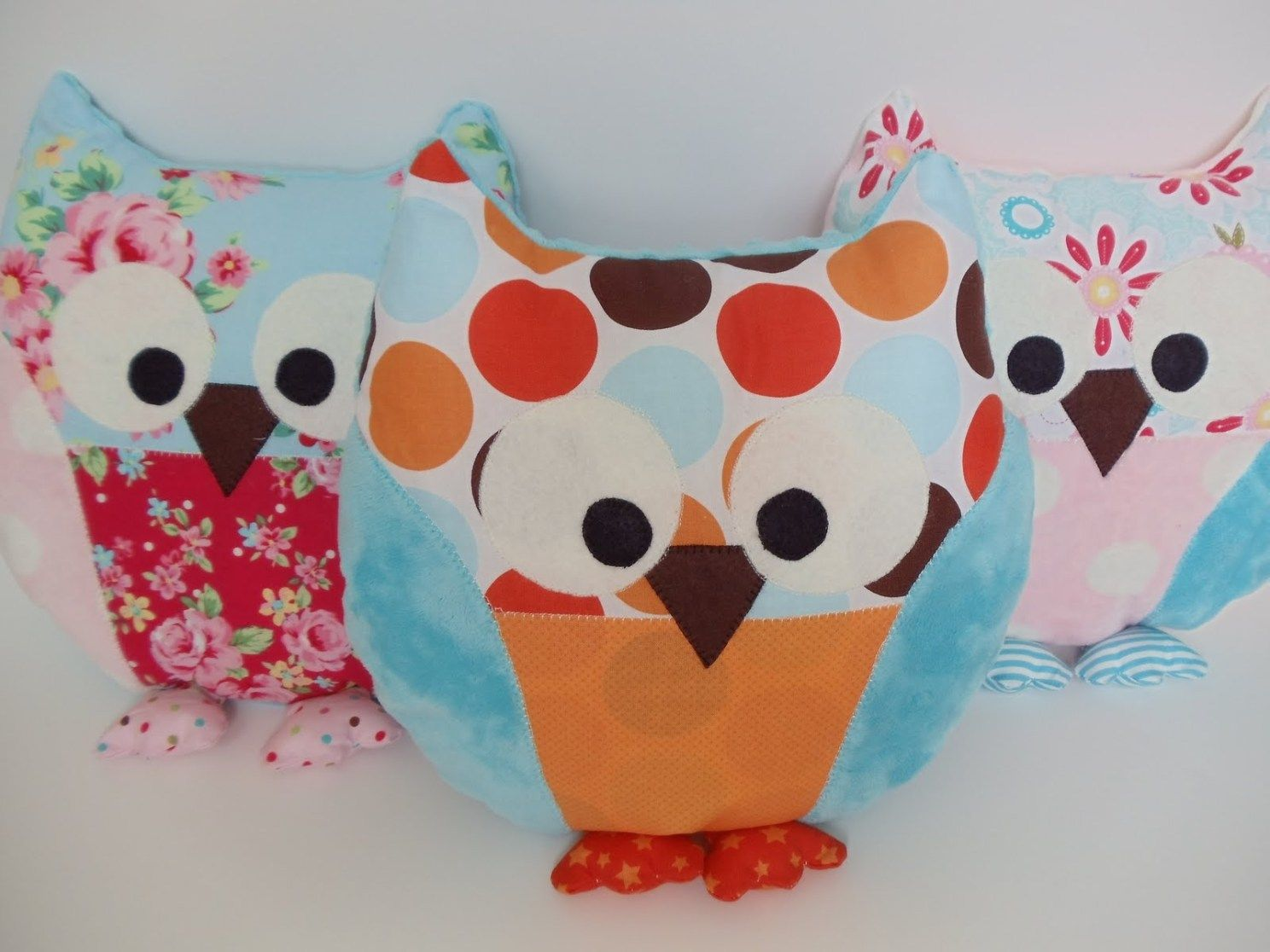 Owl Sewing Pattern My Cotton Creations Sewing For Children Owl Pillow Pattern And