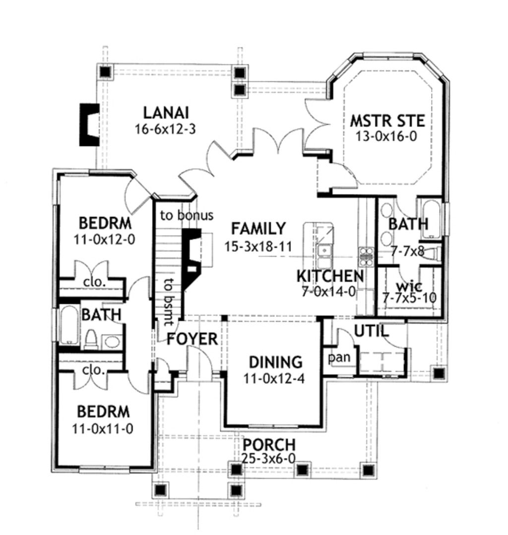 Craftsman Style House Plan 3 Beds 2 Baths 1421 Sq/Ft