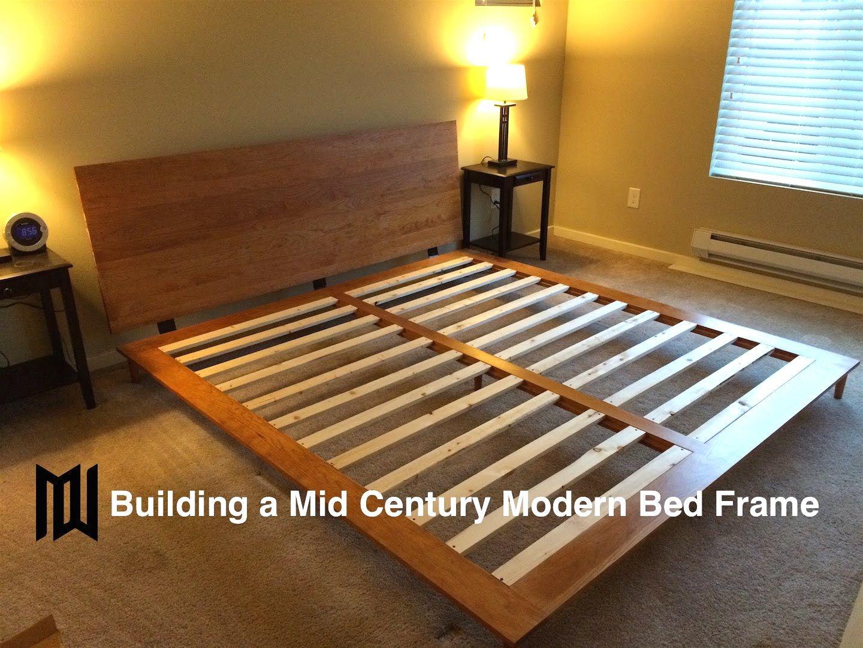 build a mid century modern bedframe youtube magnificent diy bed frames plans - Modern Bed Frames Cheap