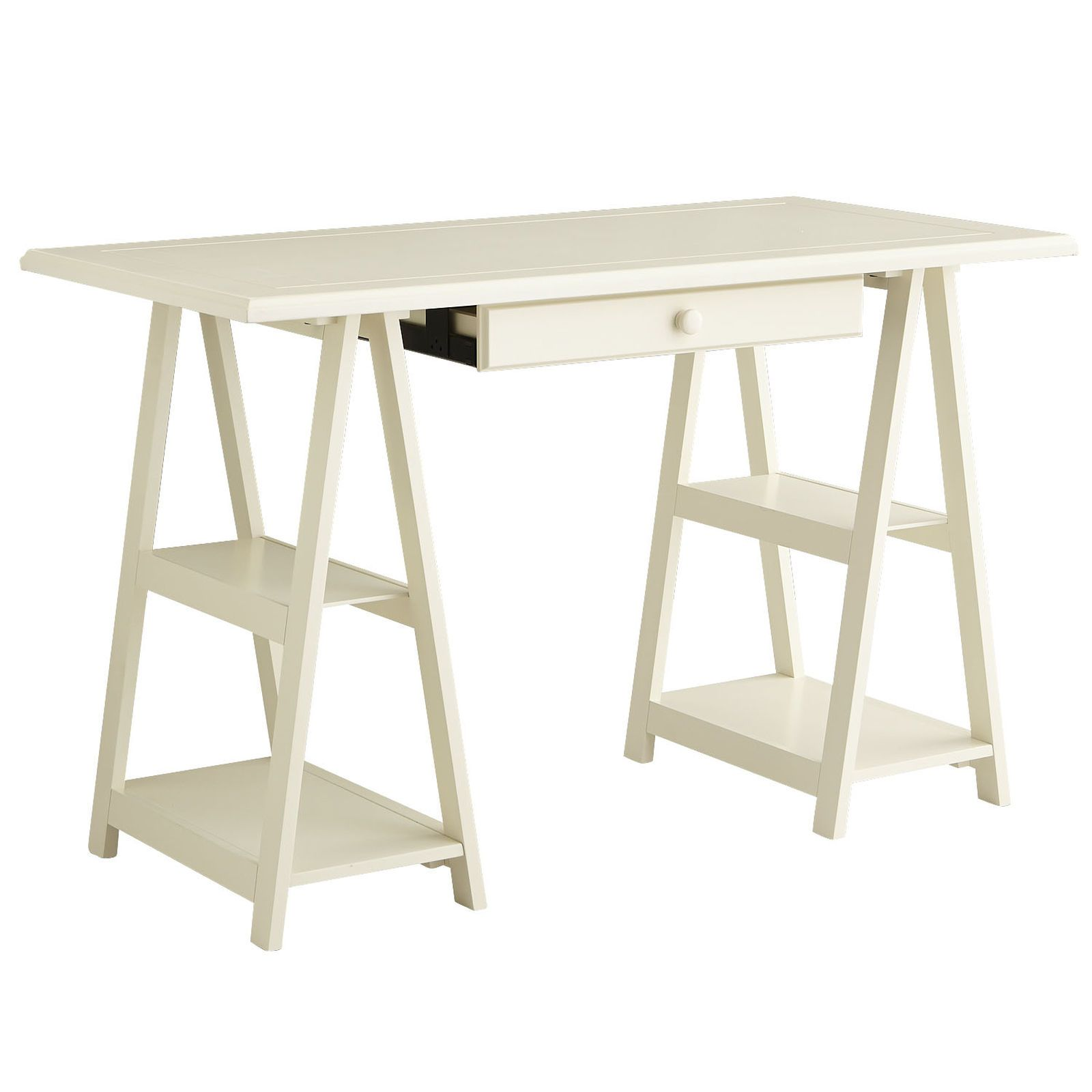 A cut above the standard sawhorse desk cavaletto maintains classic