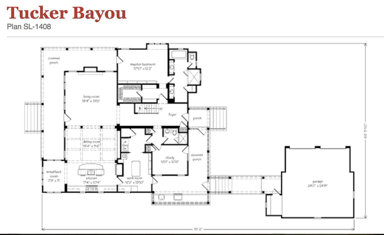 Tucker bayou tucker bayou home pinterest house for Bayou cottage house plan