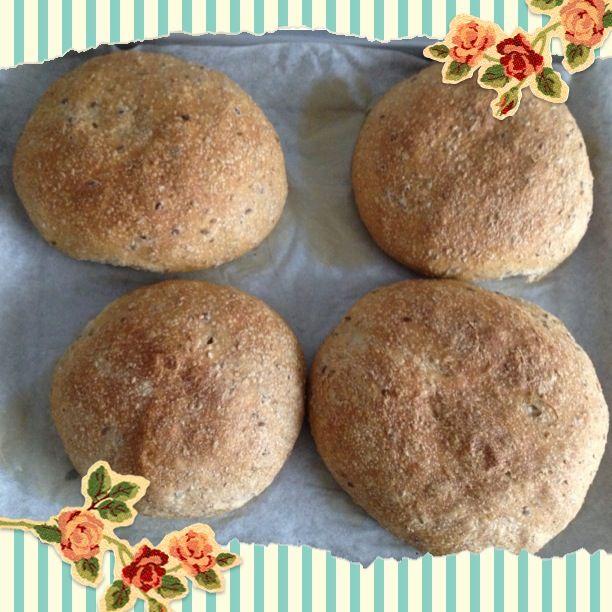 I miei panini con il lievito madre e farina integrale