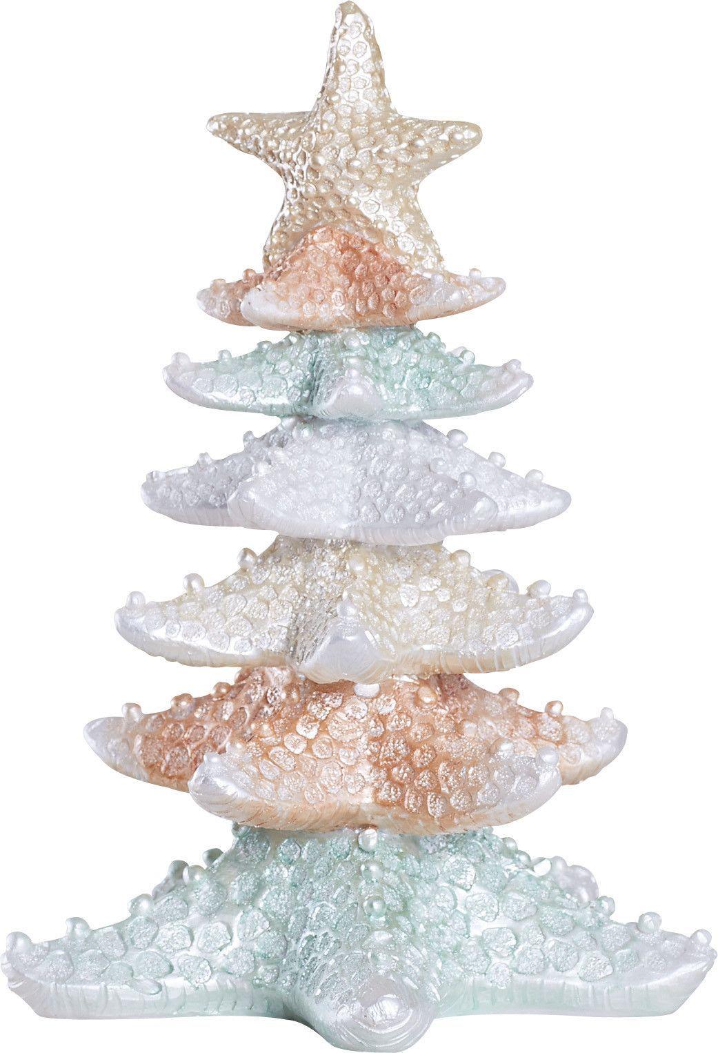 Resin Starfish Tree Coastal Christmas Decor Beachy Christmas Christmas Tree Decorations